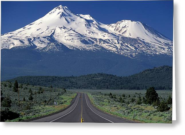 Mt. Shasta Greeting Cards - Mount Shasta Greeting Card by Christian Heeb