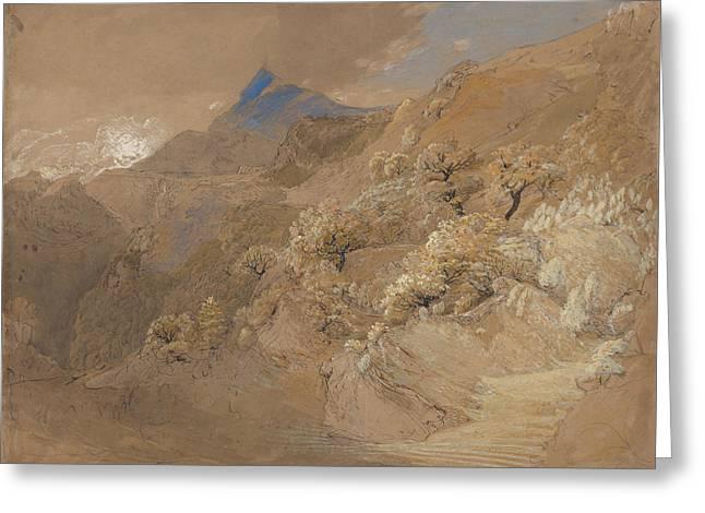Mount Siabod From Tyn-y-coed Near Capel Curig Greeting Card by Samuel Palmer