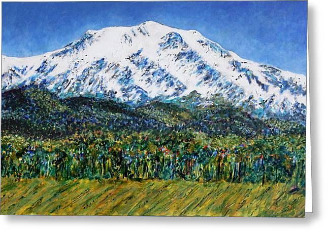 Snow Tree Prints Greeting Cards - Mount Sopris - Colorado Greeting Card by Kathie Nichols