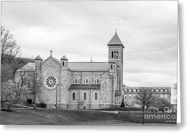 Liberal Greeting Cards - Mount St. Marys University Chapel Greeting Card by University Icons