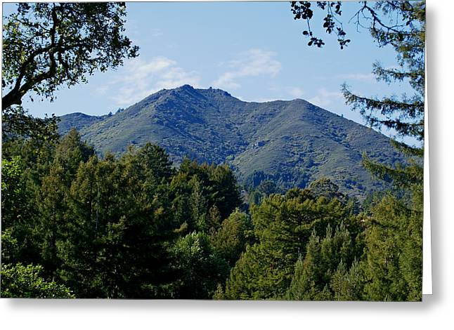 Recently Sold -  - Marin County Greeting Cards - Mount Tamalpais Greeting Card by Ben Upham