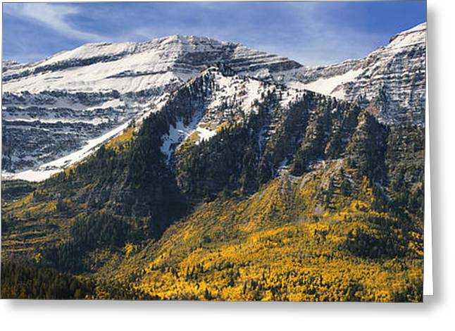Scenic Byways Greeting Cards - Mount Timpanogos Greeting Card by Utah Images