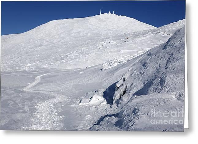 Appalachian Trail Greeting Cards - Mount Washington - White Mountain New Hampshire USA Winter Greeting Card by Erin Paul Donovan