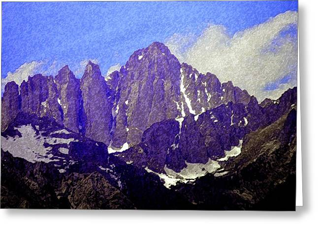 Kings Canyon Greeting Cards - Mount Whitney Greeting Card by David Lee Thompson