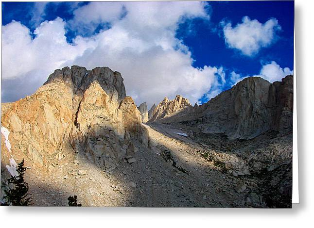 Mount Whitney Greeting Cards - Mount Whitney Trail Greeting Card by Scott McGuire
