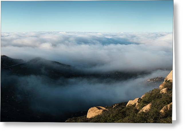 Mount Woodson Clouds Greeting Card by William Dunigan