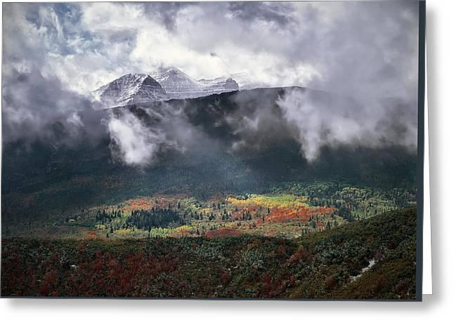 Mountain Autumn Greeting Card by Leland D Howard