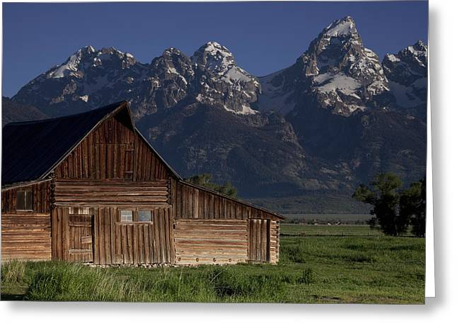 Teton Greeting Cards - Mountain Barn Greeting Card by Andrew Soundarajan