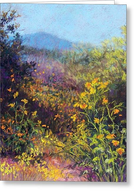 Southwest Pastels Greeting Cards - Mountain Beauty Greeting Card by Candy Mayer