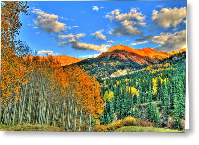 Scenic Drive Greeting Cards - Mountain Beauty of Fall Greeting Card by Scott Mahon