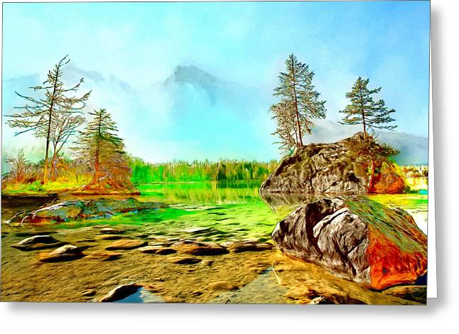 Beautiful Creek Greeting Cards - Mountain Bliss Greeting Card by Andres Ramos