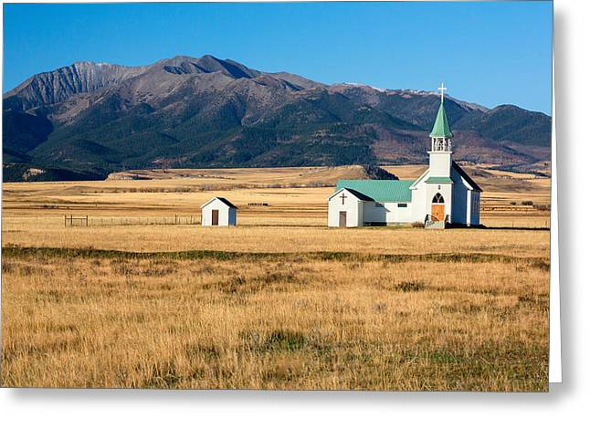 Mountain Chapel Greeting Card by Todd Klassy