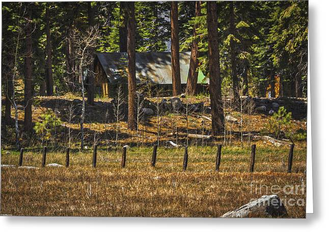 Tin Roof Greeting Cards - Mountain Country Home Greeting Card by Mitch Shindelbower