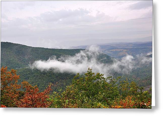 Fogg Greeting Cards - Mountain Fog Greeting Card by Todd Hostetter