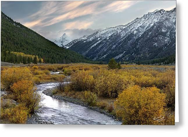 Mountain Grandeur Greeting Card by Leland D Howard