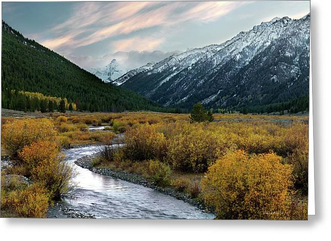 First Snow Greeting Cards - Mountain Grandeur Greeting Card by Leland D Howard