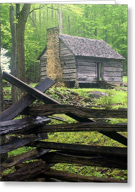 Mountain Homestead Greeting Card by Marty Koch