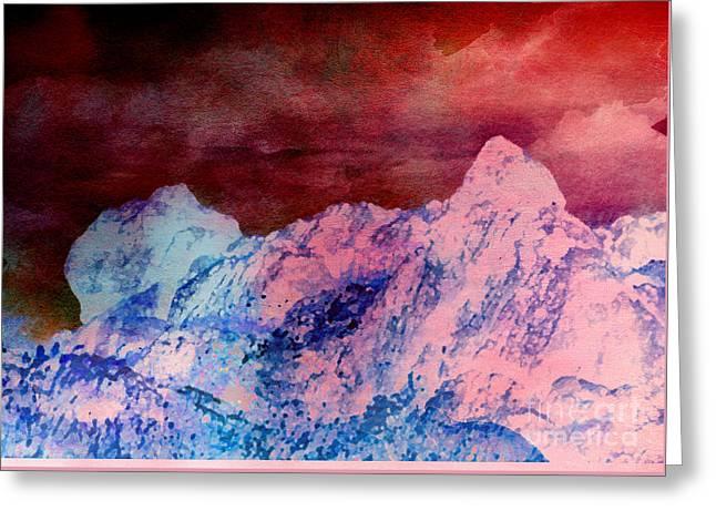 Mountain Greeting Card by Karo Evans