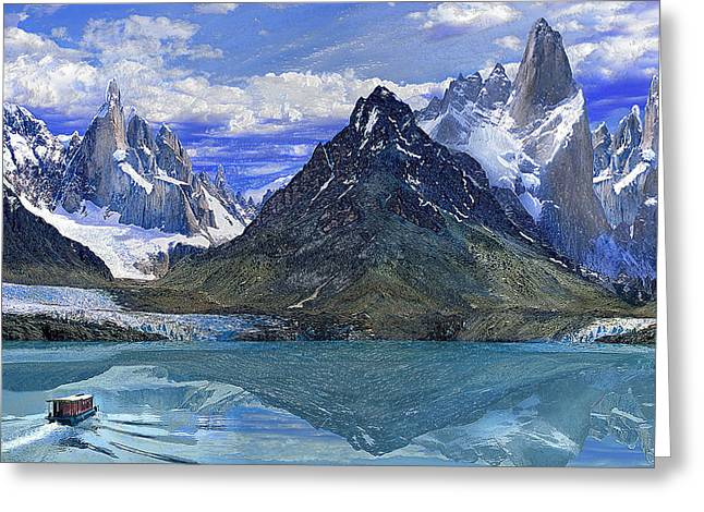 Snowy Night Night Greeting Cards - Mountain Lake Greeting Card by Scott Mendell