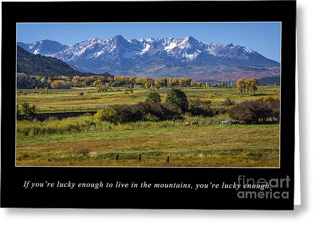 Snow Capped Greeting Cards - Mountain Living  Greeting Card by Priscilla Burgers