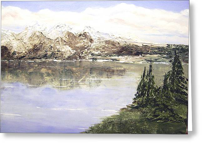 Mountain Majesty Greeting Card by Terry Honstead
