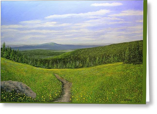 Mountain Meadow Greeting Card by Ken Ahlering