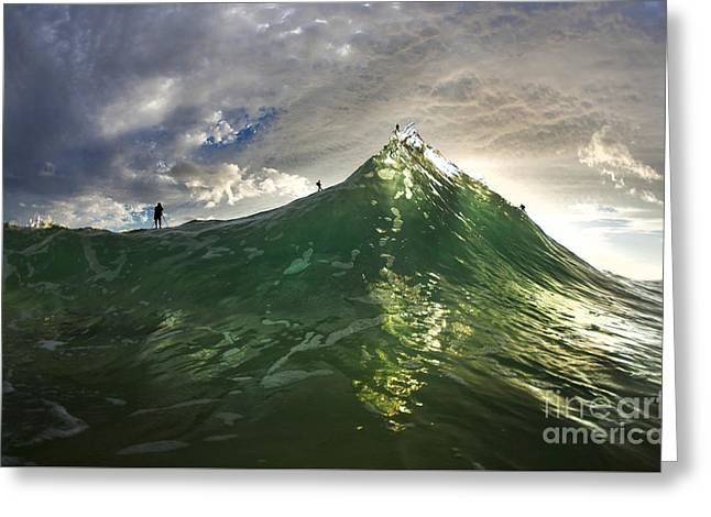 Ocean Energy Greeting Cards - Mountain Men Greeting Card by Sean Davey