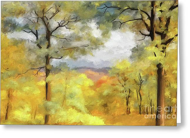 Mountain Morning Greeting Card by Lois Bryan