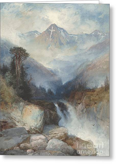 Mountain Of The Holy Cross Greeting Card by Thomas Moran