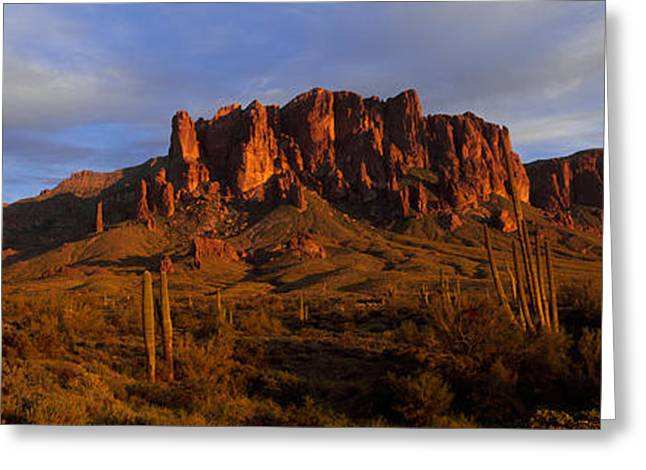 Famous State Parks Greeting Cards - Mountain On A Landscape, Superstition Greeting Card by Panoramic Images