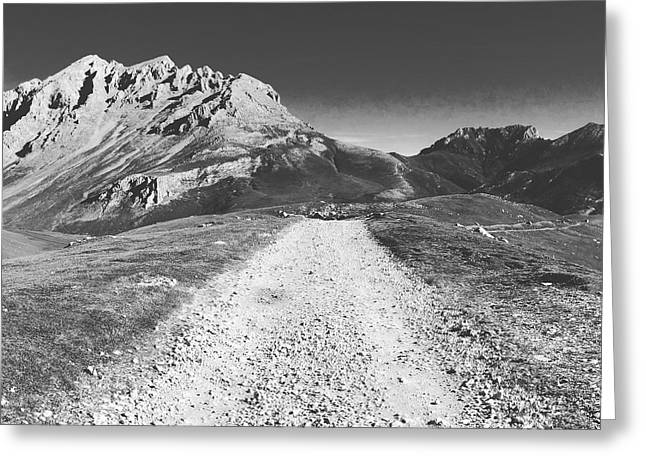 Mountain Road Greeting Card by Contemporary Art