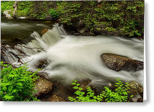 Beauty Creek Greeting Cards - Mountain Stream Waterfall Greeting Card by James BO  Insogna