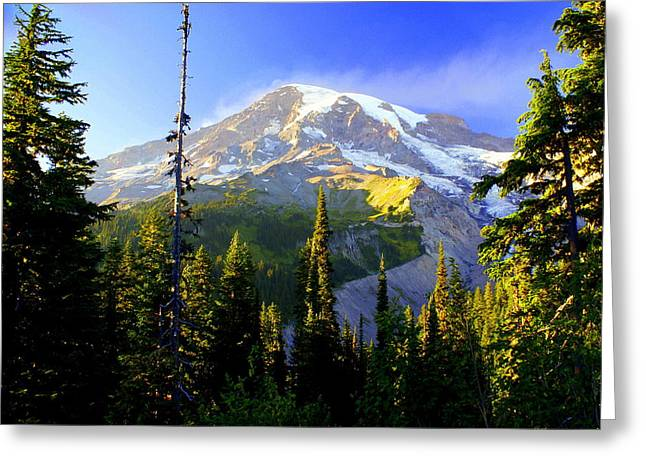 Marty Koch Greeting Cards - Mountain Sunset Greeting Card by Marty Koch