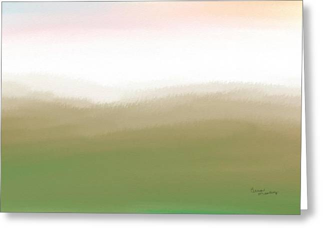 Gina Lee Manley Greeting Cards - Mountain Tops Greeting Card by Gina Lee Manley