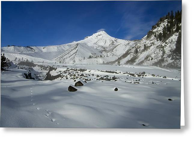 Mt Hood Greeting Cards - Mountain Tracks Greeting Card by Mike  Dawson