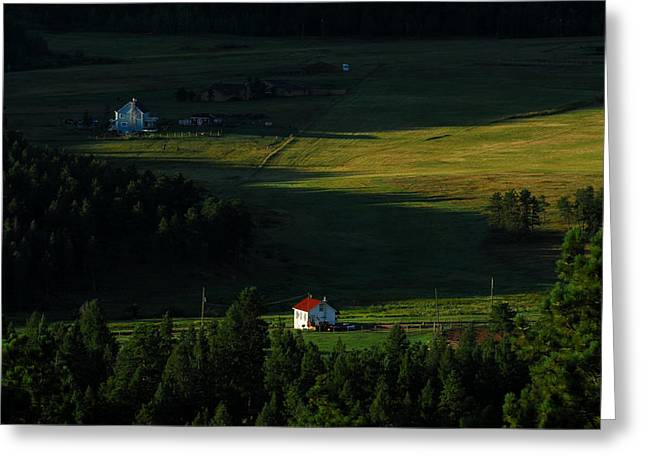 Cabins Photographs Greeting Cards - Mountain Valley Greeting Card by Noah Bryant