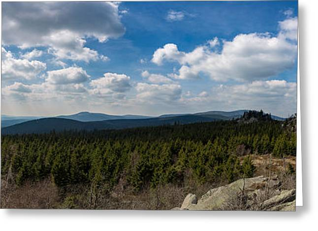mountain view, Harz Greeting Card by Andreas Levi