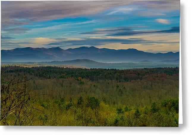Mountain Views From Blue Ridge Parkway Greeting Card by Joseph Kimmel