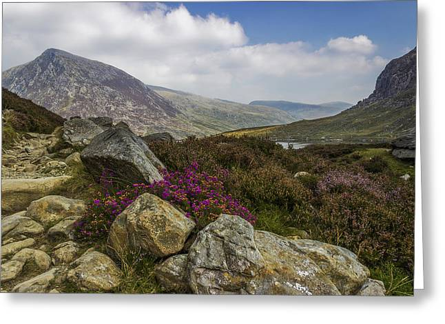 Rambling Greeting Cards - Mountain Walks Greeting Card by Ian Mitchell