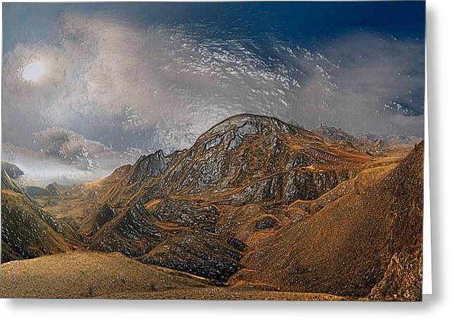 Snowy Night Night Greeting Cards - Mountain Way Greeting Card by Scott Mendell