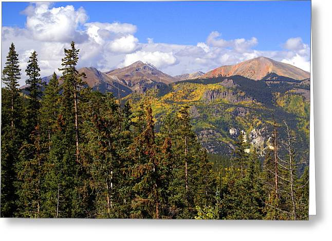 Mountains Aglow Greeting Card by Marty Koch