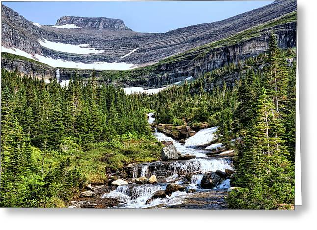 Print Photographs Greeting Cards - Mountains and Waterfalls Greeting Card by John Trommer