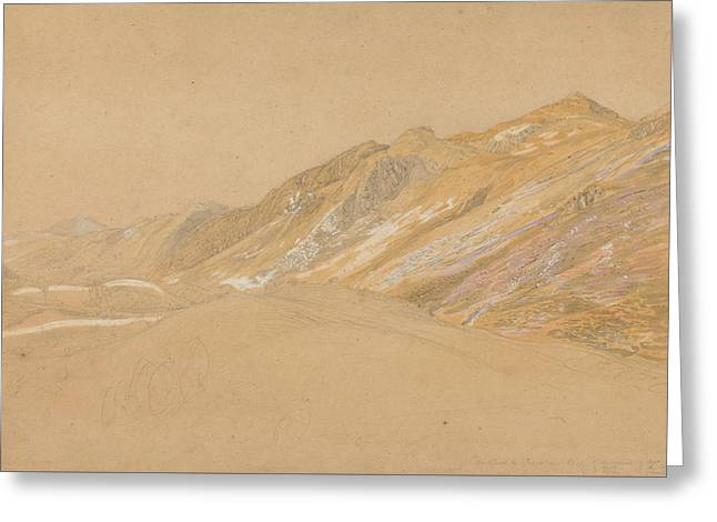 Mountains By The Traveller's Rest Near Dolgelly Greeting Card by Samuel Palmer