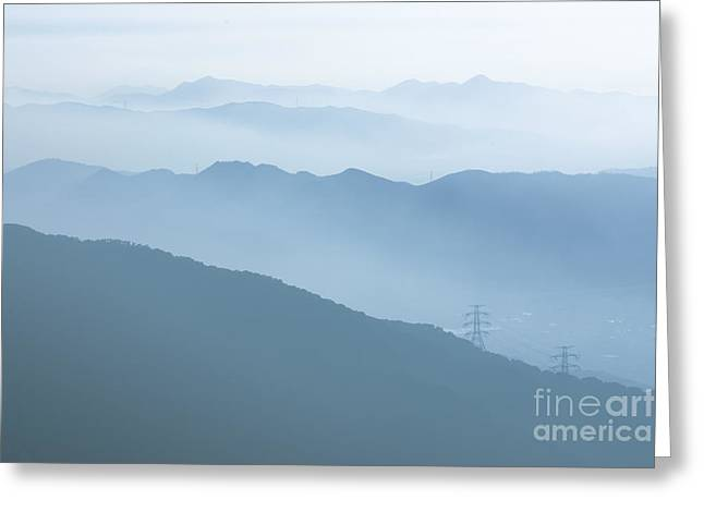 Mountains Greeting Card by Kam Chuen Dung