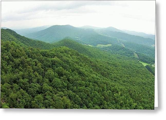 Blue Ridge Pyrography Greeting Cards - Mountains of Dragons Tooth Greeting Card by Adam Holland