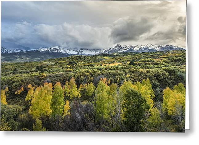 Mountains Of Ridgeway Greeting Card by Jon Glaser