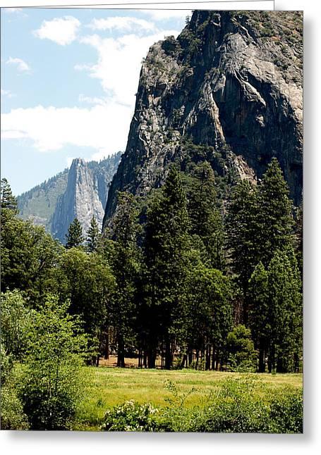 Cities Greeting Cards - Mountains of Yosemite Rocks to climb Greeting Card by LeeAnn McLaneGoetz McLaneGoetzStudioLLCcom