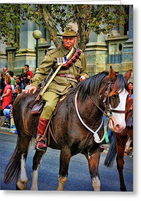 Anzac Greeting Cards - Mounted Infantry 2 Greeting Card by Douglas Barnard
