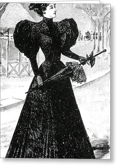 Apparel Greeting Cards - Mourning Dress, 1890s Greeting Card by Science Source