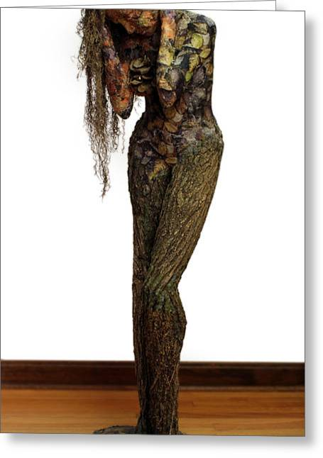 Sculpture Mixed Media Greeting Cards - Mourning Moss a sculpture by Adam Long Greeting Card by Adam Long